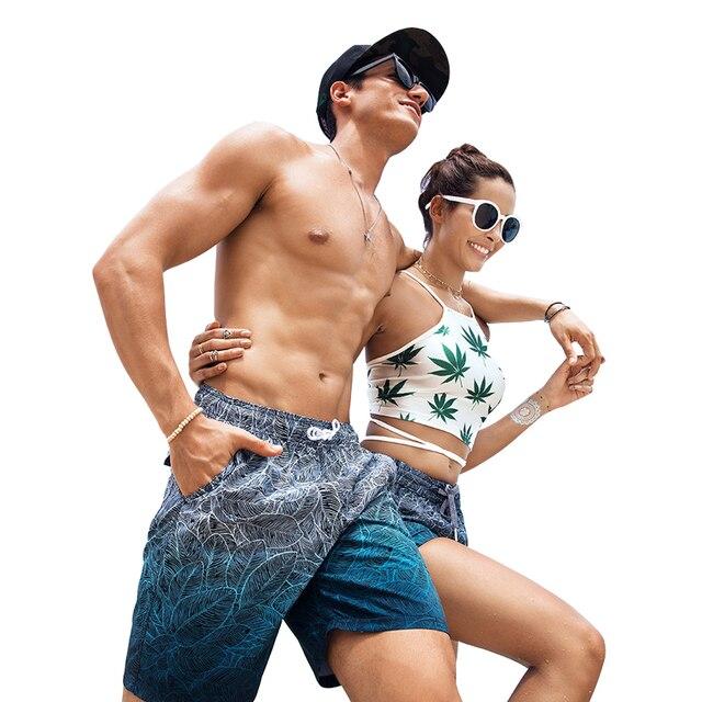 73cce63e08 Couple Beach Shorts Fast Dry Swimwear Mens Women Swim Surfing Board  Sweatpants Bermuda Swim Suit Lover