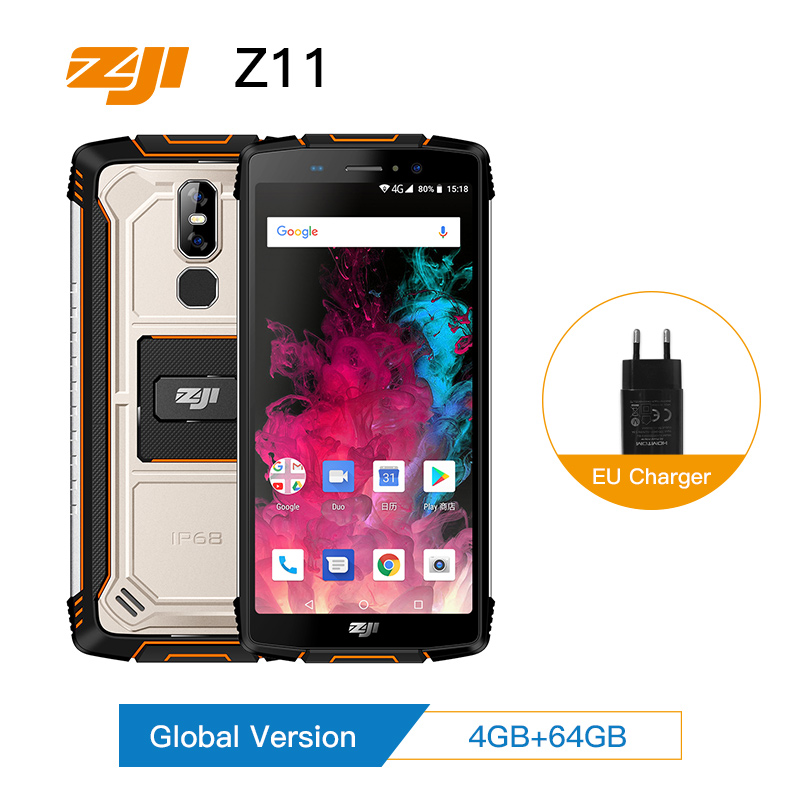 HOMTOM ZJI ZOJI Z11 IP68 Poeira À Prova D' Água do Smartphone 10000 mAh 4 GB 64 GB Octa Núcleo Celular 5.99