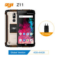 "HOMTOM ZJI ZOJI Z11 IP68 Waterproof Dustproof 10000mAh Smartphone 4GB 64GB Octa Core Cell Phone 5.99"" Face ID 4G Mobile Phone"