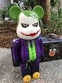 El Joker Figura de Acción Bearbrick 400% Bearbrick Cos El Comodín Muñeca PVC figura de Juguete Brinquedos Anime 28 CM