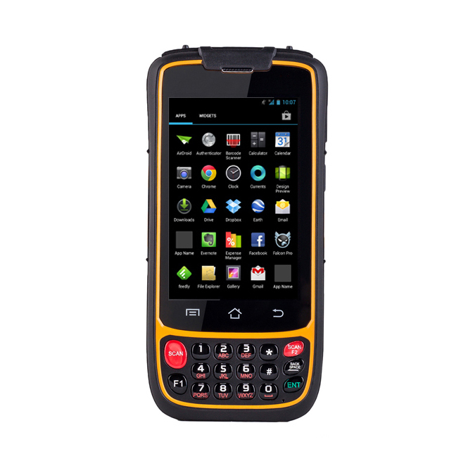 Wireless Handheld Mobile Computer 1D / 2D Barcode Scanner QR Code Reader with 4G WIFI Bluetooth GPS Camera 2d wireless barcode area imaging scanner 2d wireless barcode gun for supermarket pos system and warehouse dhl express logistic