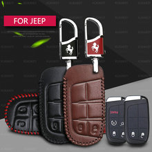 Genuine Leather Car Key Case Cover For JEEP Wrangler Patriot Grand Cherokee Compass Liberty 2 buttons 5 Buttons Car Key Bag
