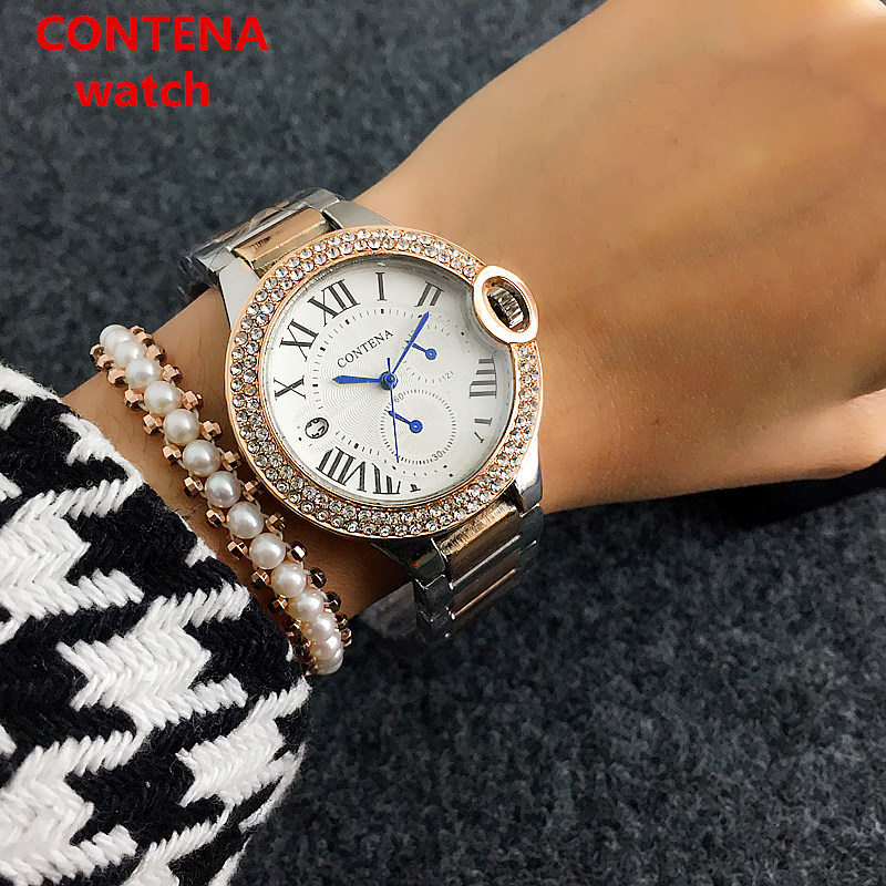 CONTENA Armband Quartz horloge Luxe Dames Casual horloges Mode Rose - Dameshorloges