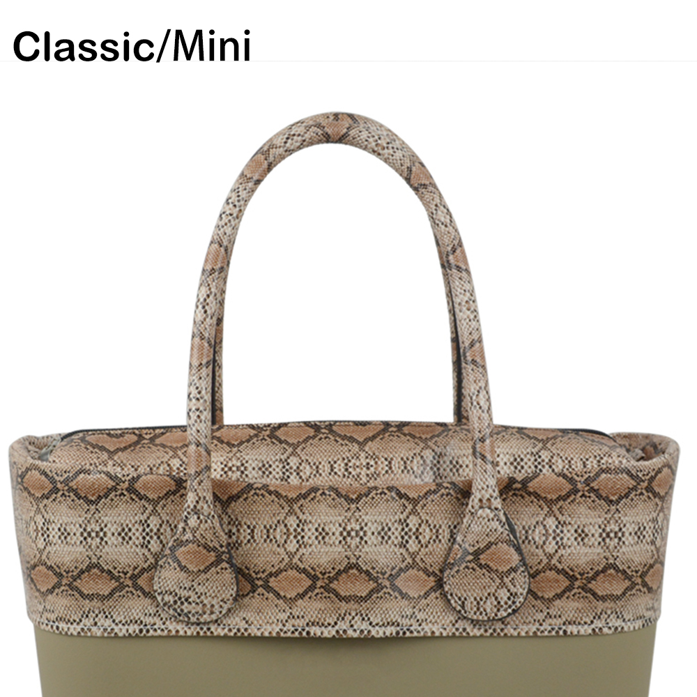 Waterproof Snake Skin Grain PU Insert Inner Pocket Plus Trim Adjustable Handles for Classic Mini Obag O Bag Women Handbags new colorful cartoon floral insert lining for o chic ochic canvas waterproof inner pocket for obag women handbag