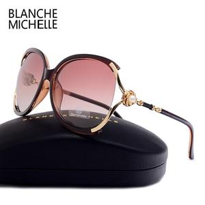 Image 3 - Blanche Michelle 2019 Donne Occhiali Da Sole Polarizzati UV400 Progettista di Marca di Alta Qualità Gradiente Occhiali Da Sole Donna oculos Con La Scatola