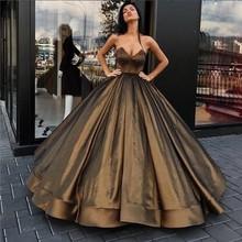 Brown Ball Gown Dress