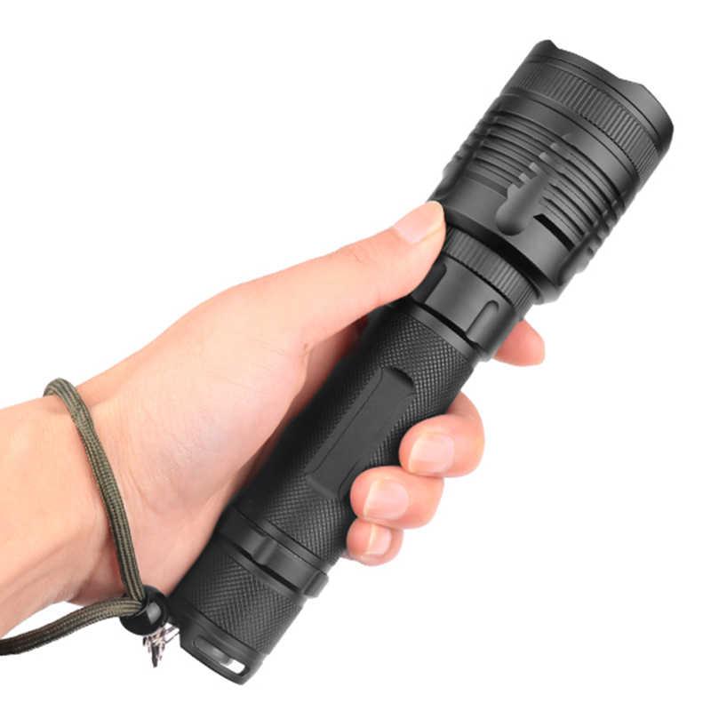 Litwod z25p78 original cree xhp70.2 32w poderosa lente zoom tático lanterna led tocha 10000 mah 26650 18650 bateria