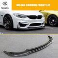 M3 M4 Carbon Faser V Stil Frontschürze Lippe Kinn Spoiler für BMW F80 M3 F82 M4 Coupe F83 M4 cabrio 2012 2017-in Stoßstangen aus Kraftfahrzeuge und Motorräder bei