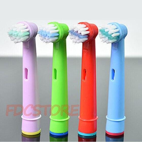 4 pcs Crianças Crianças escova de Dente Cabeças de Escova de Substituição Para Oral-B escova de Dentes Elétrica Fit Poder Antecedência/Saúde Pro/Triumph/3D Excel