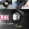 Negro Motocicleta de La Bici Del Motor Eléctrico 5 W Faros LED Cabeza de Conducción de Luz de Trabajo de Niebla Spot de Noche Lámpara de Seguridad Universal