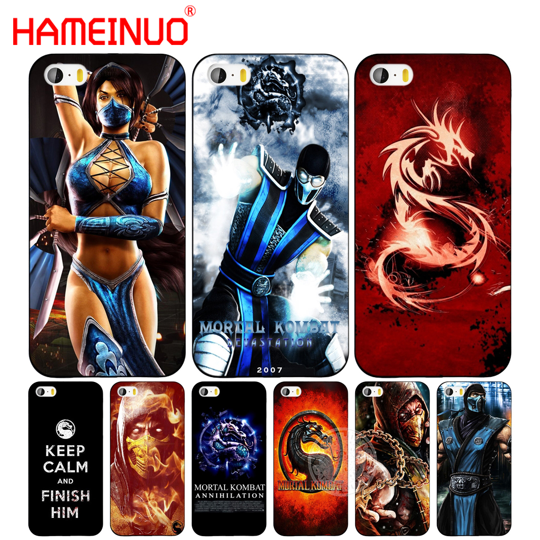 HAMEINUO Scorpion Sub Zero Mortal Kombat x cell phone case Cover per iphone 6 4 4 s 5 5 s SE 5c 6 6 s 7 8 più la cassa per iphone 7 X