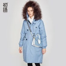Toyouth delle Donne Imbottiture Giacca Invernale Femminile Giacca Thicking Pelliccia Con Cappuccio Oversize Parka Cappotto Lungo 90% Outwear Piume D'anatra Bianca Imbottiture giacca(China)