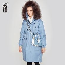Toyouth vrouwen Donsjack Winter Vrouwelijke Jas Thicking Fur Hooded Oversize Parka Jas Lange 90% Uitloper Witte Eendendons jas