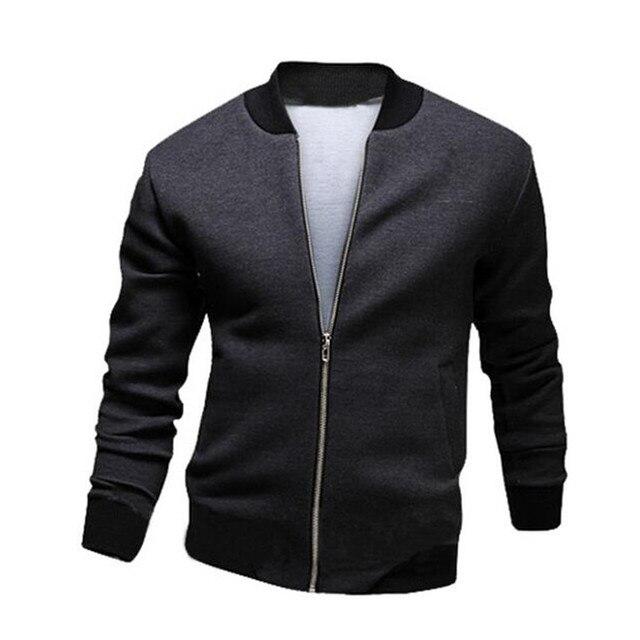 2016 brand mens spring summer thin jacket men casual Slim fit solid jacket bomber jacket hombres chaqueta jaqueta big size