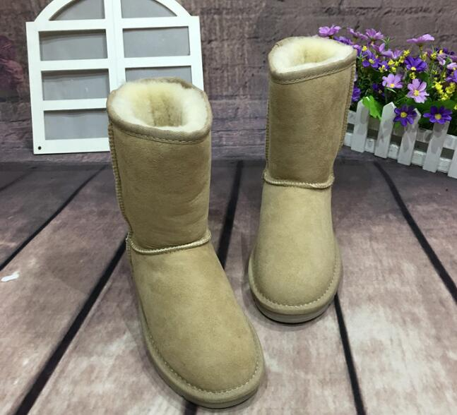 2016 new fashion Australia women snow boots Middle of the tube sheep skin one snow boots large yards in the winter boots 2017 sales of the most popular hot winter boots women ug australia boots women slip warm women s boots in the snow size 34 44