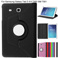 QianNiao PU Leather Case for Samsung Galaxy Tab E 9.6 inch SM-T560 T561 2016 New Fashion 360 Degree Rotating Stand Smart Cover