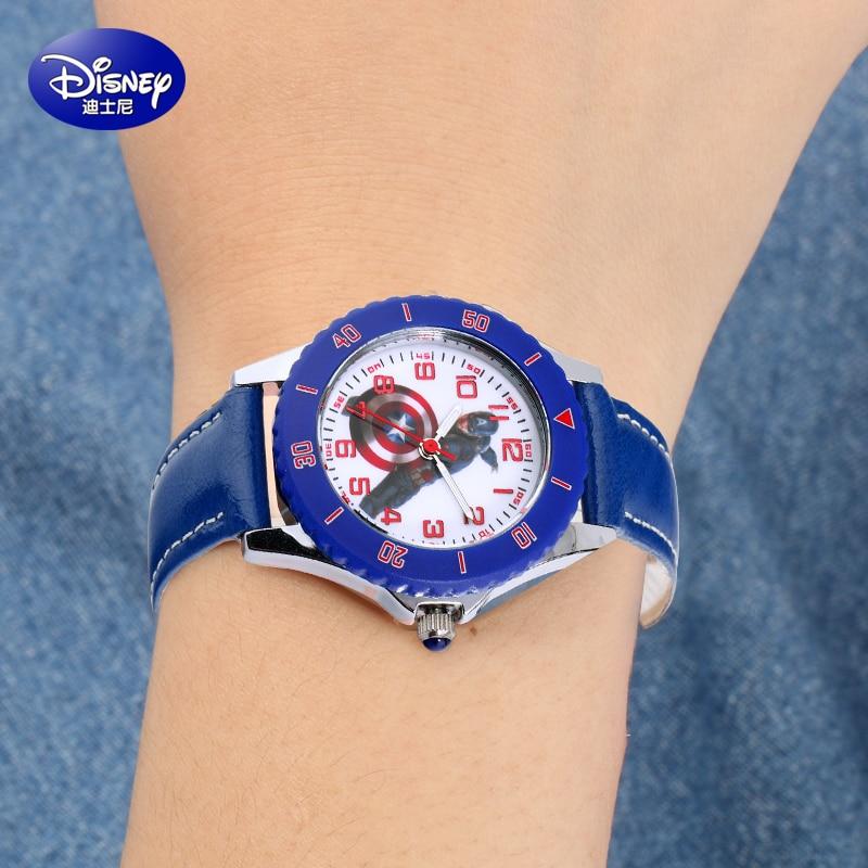 100 Disney brands kids watch children s wristwatches Boys waterproof quartz boy watches Leather clocks relogio