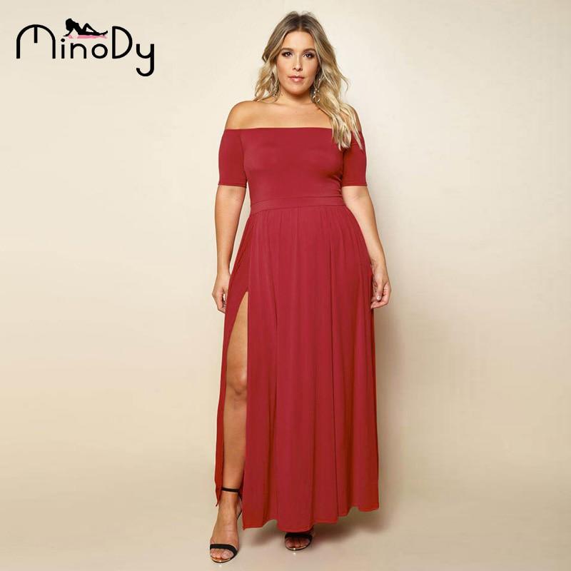 Mini obleke na rame Maxi Obleke ženske Plus velikosti tunika-7161
