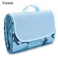 Vertvie 145x180cm Waterproof Foldable Outdoor Camping Mat Widen Picnic Mat Plaid Beach Blanket Baby Multiplayer Tourist