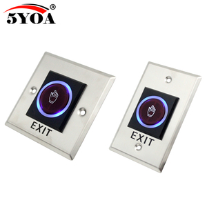 Image 1 - 5YOA Infrared Sensor Switch No Touch Contactless Door Release Exit Button with LED Indication