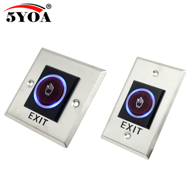 5YOA Infrared Sensor Switch No Touch Contactless Door Release Exit Button with LED Indication