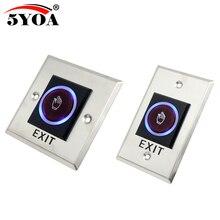 5YOA przełącznik czujnika podczerwieni bezdotykowy bezdotykowy przycisk wyjścia drzwi z diodą LED
