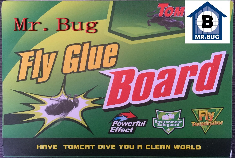 10pcs Mr Bug HouseFly Catchers Fly Glue Paper Trap, Strong Flies Moths Bed Bugs Sticky Board, Ants Spiders Pests Insect Control