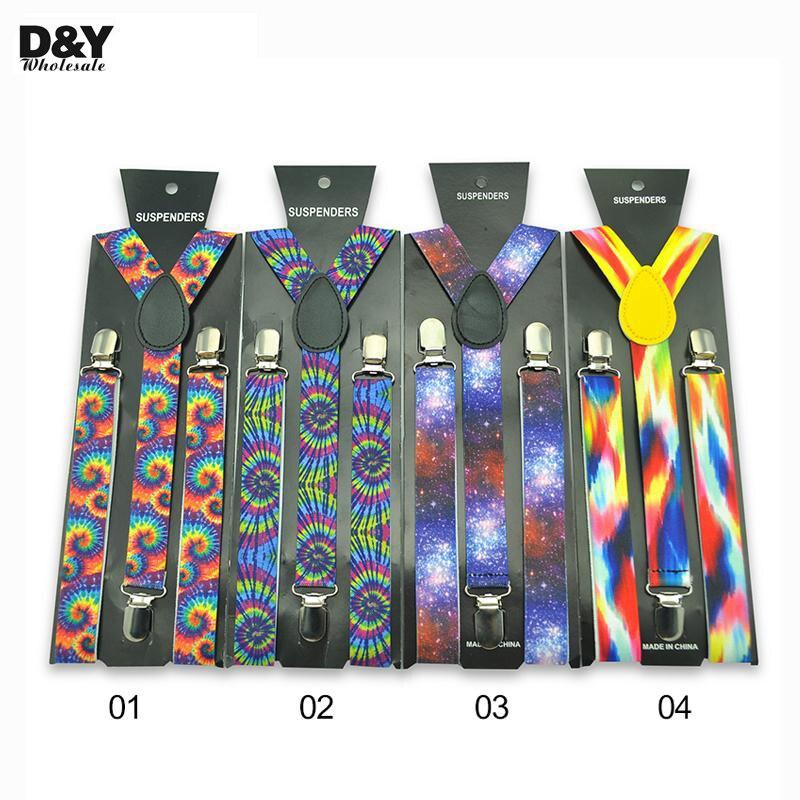 Special 7 Colorful 3D Star Sky Colors Suspenders Braces 1 Inch Width Y-back Adjustable Suspenders Braces Men Tirantes Hombre