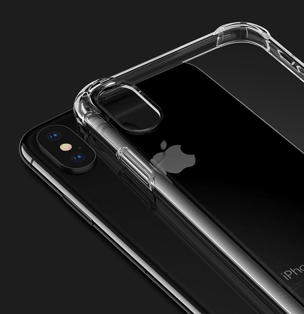 For Iphone X XR XS Max Case Clear Silicon Soft TPU Phone Shell for 6 7 8 Plus Ultra Thin Transparent Protective Back Shell cases