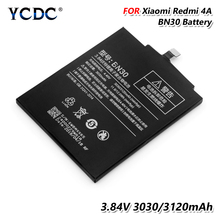 цена на Original Replacement Battery BN30 BN-30 BN 30 Rechargeable Battery For Xiaomi Redmi 4A 3.84V 3120MAH Long Cycle-Life Cell