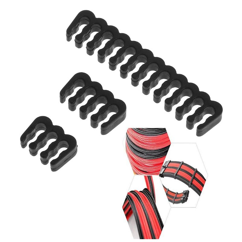 1pc PP Cable Comb /Clamp /Clip /Dresser For 3.0-3.2 Mm Cables Black 6/8/24 Pin Computer Cable Comb Black