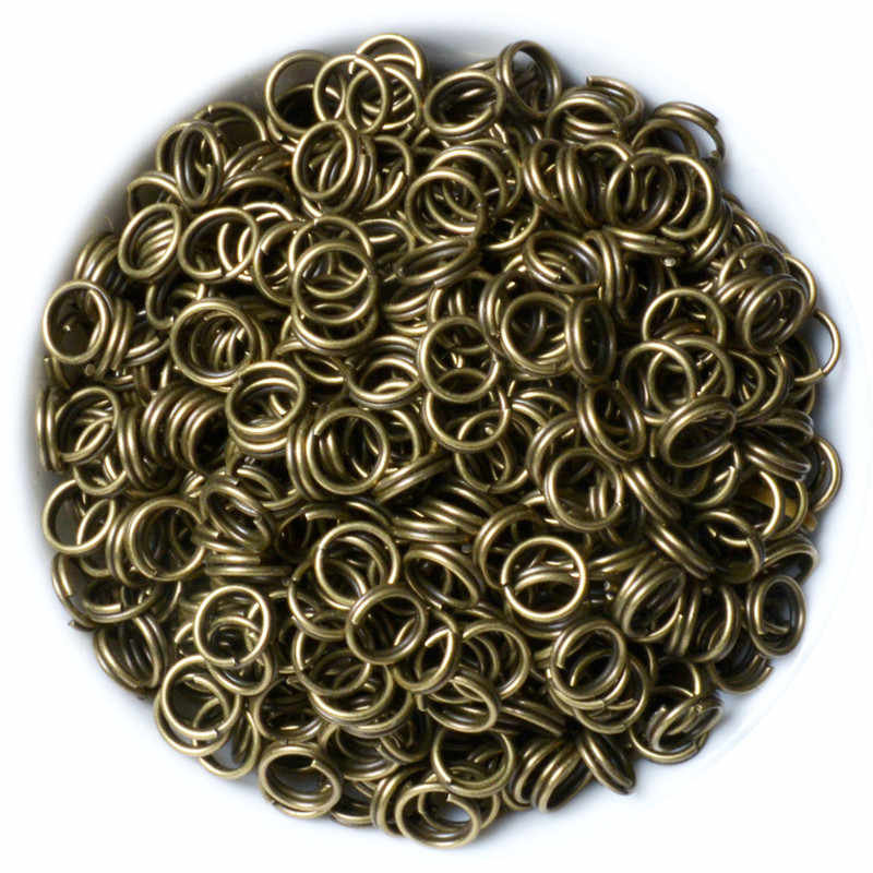 200pcs/lot 4 5 6 8 10 12 mm Open Jump Rings Double Loops Mixed Color Split Rings Connectors For Jewelry Making DIY