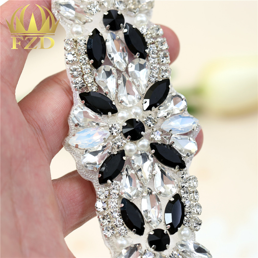 1 Piece Rhinestone Iron on Blue Crystal Appliques Hot fix Pearls Glass  Patches Iron sew on rhinestoneFor Wedding Belt FA 900-in Rhinestones from  Home ... 5b6ca2f1157d