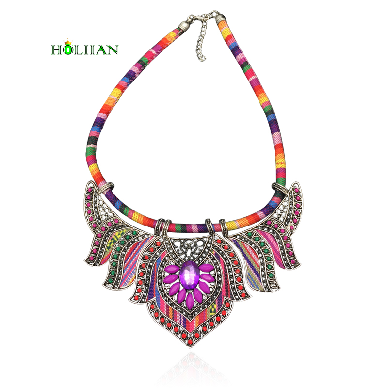 Women hippie chokers necklaces & pendants maxi statement chockers multicolor boho ethnic collar female bohemian jewellery blue plus size funnel collar maxi asymmetric hoodie