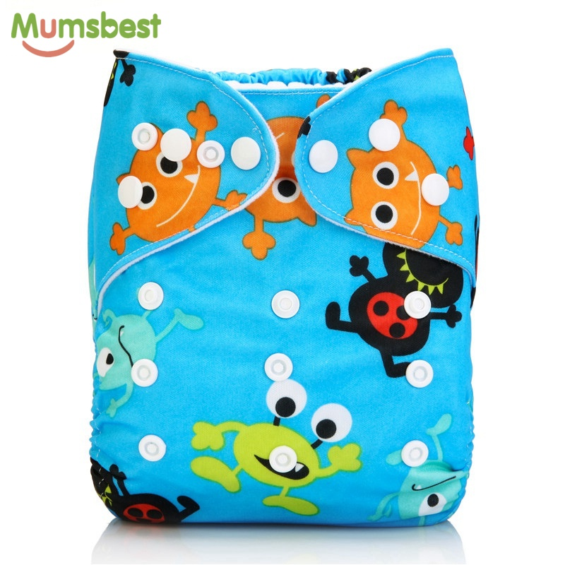 [Mumsbest] Baby Cloth Diapers Washable Waterproof Reusable Nappies Suit 0-2 years 3-13kg One Size Adjustable Diaper