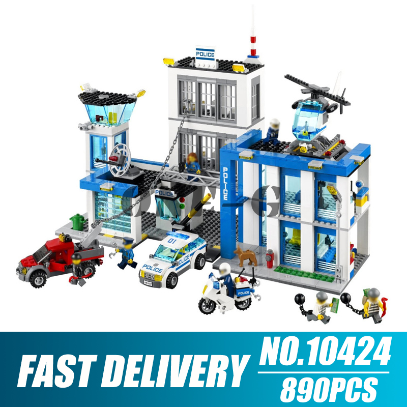Building blocks 10424 890pcs Compatible with City 60047 Bricks Police Station figures Educational toys for children