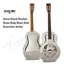 Aiersi Marca Duolian Gloss Chrome Sino de Bronze Corpo Ressonador guitarra A39-BC(China)