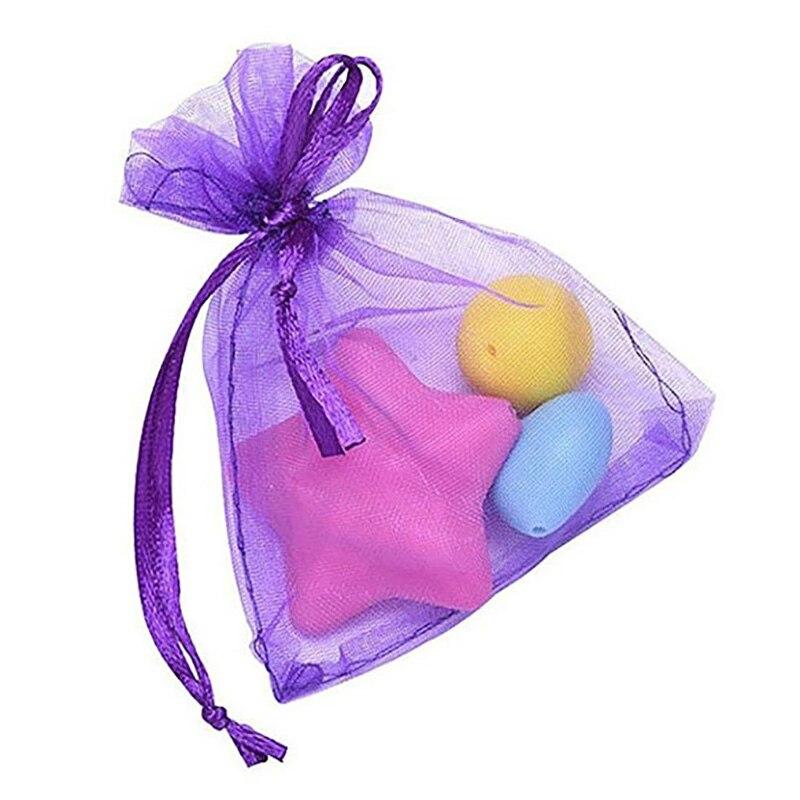YHYS 10 Pack beau cadeau en Organza violet foncé et sacs de faveur 7 Cm x 9 Cm