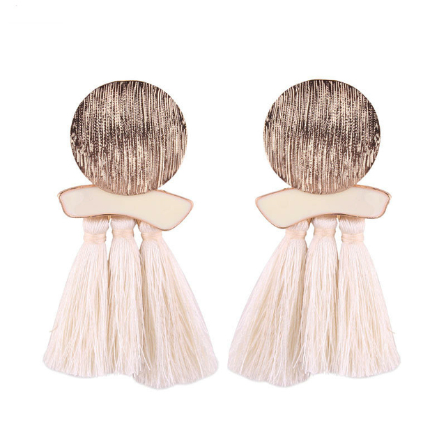 Newest Fashion Statement Tassel Drop Earrings for Women Wedding Bohemian 6 Colors Fringed Hot Sale Dangle Earring