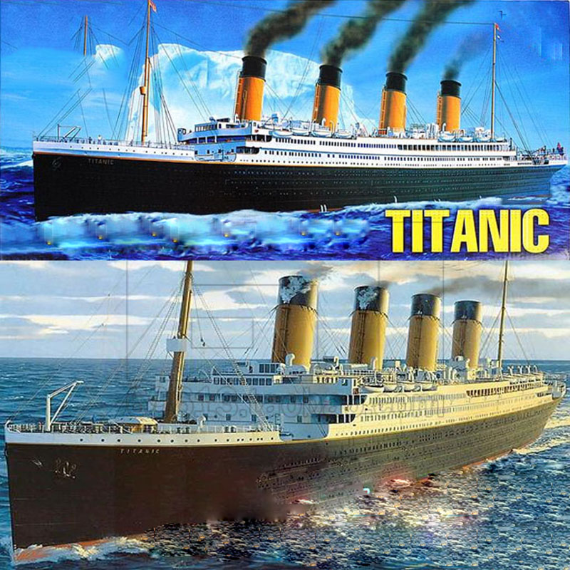 2020 New Fantasy Scale 1 550 Assembly Plastic Ship Titanic Model With Electric Motor Lighting Puzzle Toys For Children A319 Ship Titanic Ship Models Plasticship Model Aliexpress