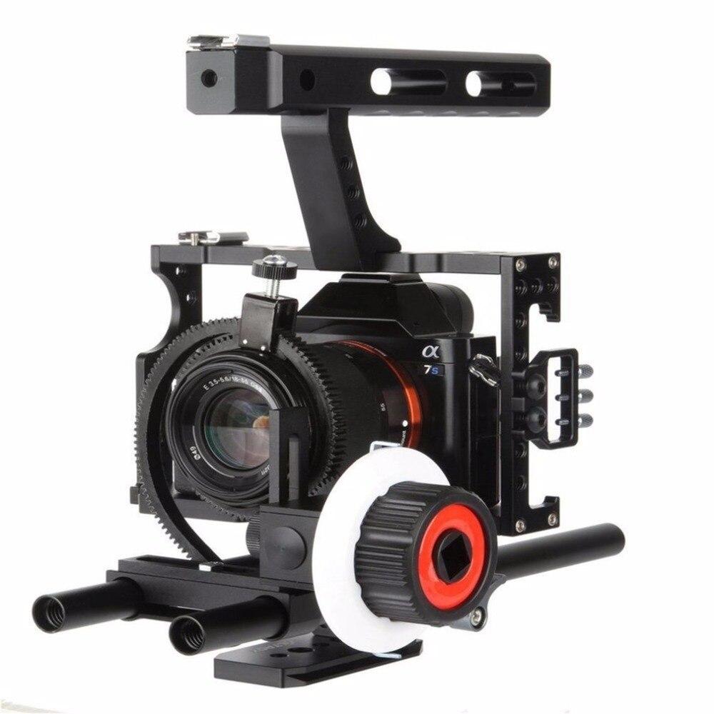 НРС CS-FO зубчатое кольцо для следящей фокусировки Алюминий сплав Камера с Шестерни кольцо пояса подходит для камеры Sony A7 ilcd высокая прочност...
