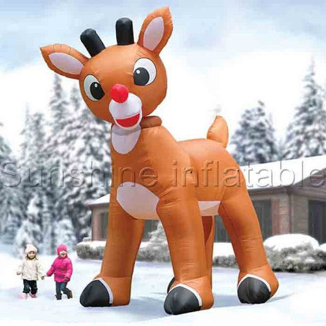 Nice 3m Giant Lovely Inflatable Christmas Deer Decorations Christmas Inflatables  Reindeer Inflatable Rudolph For Yard Lawn Decoration