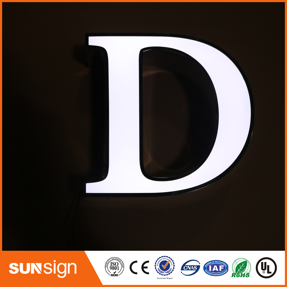 Factory Price Outdoor Illuminated Channel Letters Led Big Letter Sign