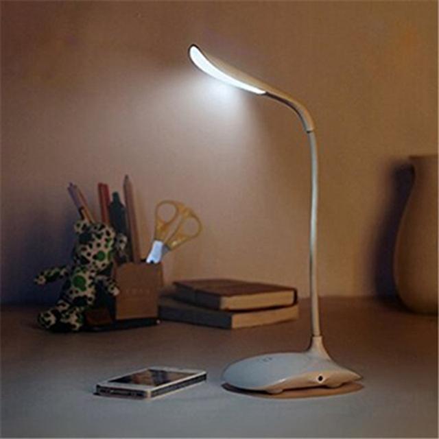 LLEVÓ Toque de Encendido/apagado ajustar brillo Dimmer Lámpara de Escritorio Protección Ocular Plegable Recargable Llevó Lámparas de Mesa