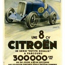 Vintage coche cartel de publicidad Citroen Petit Rosalie clásicos de lona pinturas pared vintage carteles pegatinas hogar Decoración regalo