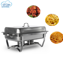 9L Chafing Dish Buffet Stoves Caterer Stainless Steel Rectangular Restaurant  Food Warmer Tray Food Utensil set for Buffet цена и фото