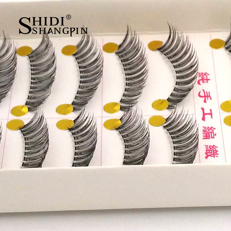 10 Pairs/lot Elegant Women Natural Thick Eye Lashes Professional Handmade Lashes Extension Makeup Kit Bare Basic False Eyelashes