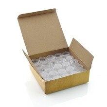 50 шт пустые 5 мл прозрачные пластиковые косметические баночки для украшения ногтей блестящие тени для макияжа Крем для Лица Бальзам для губ контейнеры
