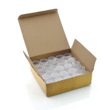 лучшая цена 50pcs clear 5 gram plastic pot jars high quality empty cosmetic containers brand new lip balm containers