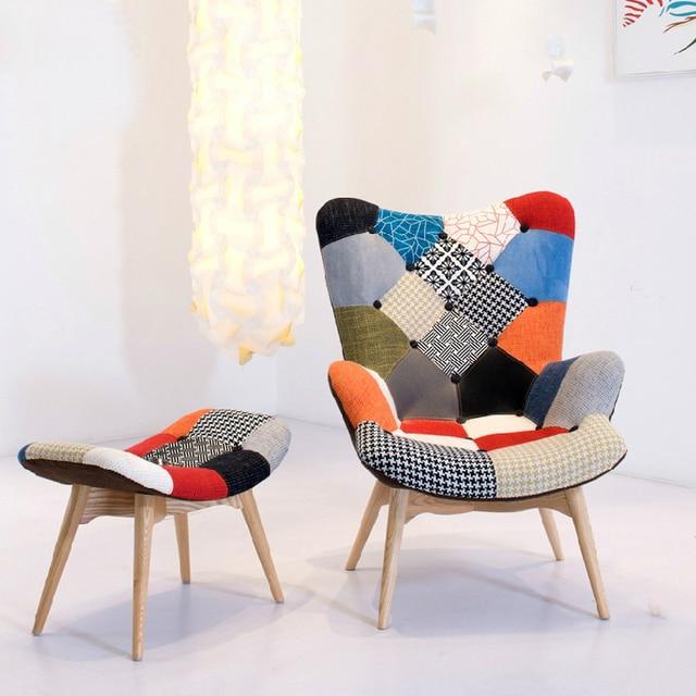 Europese enkele studie luie fauteuil stoel stof woonkamer lounge ...